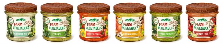 Les 6 combinacions de mousses veganes i sense gluten de Farm Vegetables d'Allos