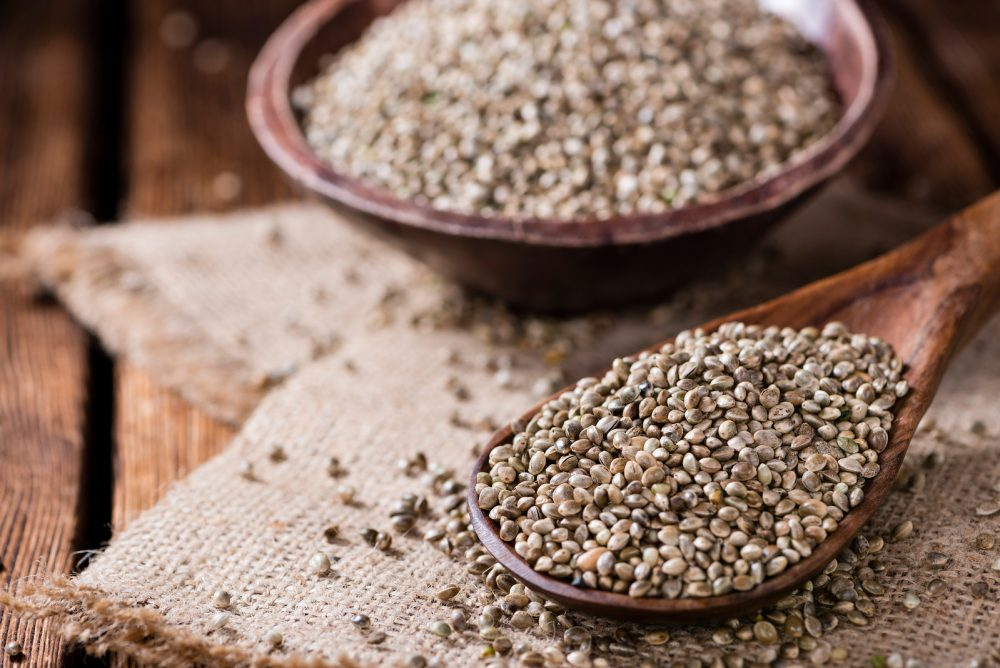 Portion Of Hemp Seeds
